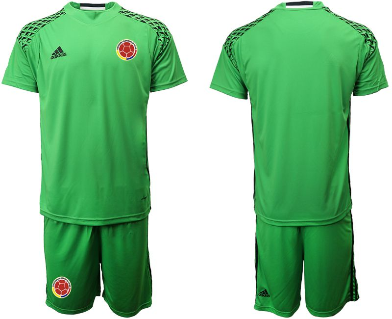 Men 2019-2020 Season National Team Colombia green goalkeeper Soccer Jerseys1
