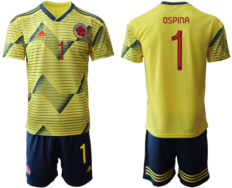 Men 2019-2020 Season National Team Colombia home 1 yellow Soccer Jerseys
