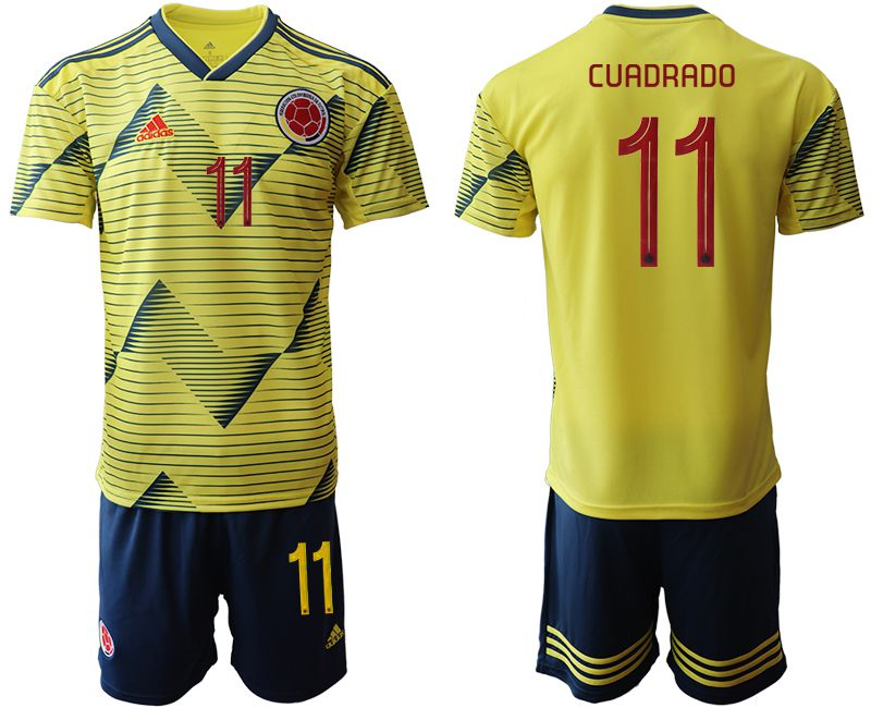 Men 2019-2020 Season National Team Colombia home 11 yellow Soccer Jerseys