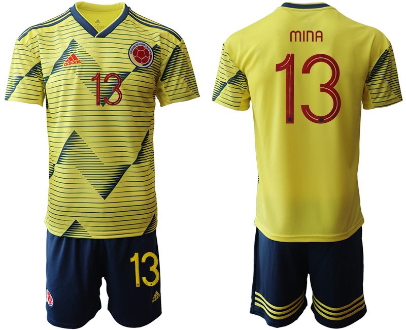 Men 2019-2020 Season National Team Colombia home 13 yellow Soccer Jerseys