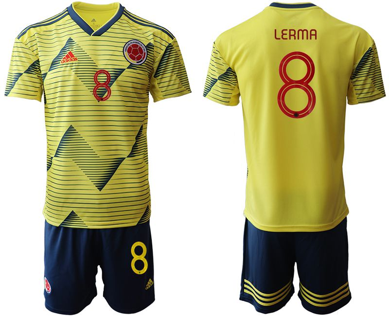 Men 2019-2020 Season National Team Colombia home 8 yellow Soccer Jerseys