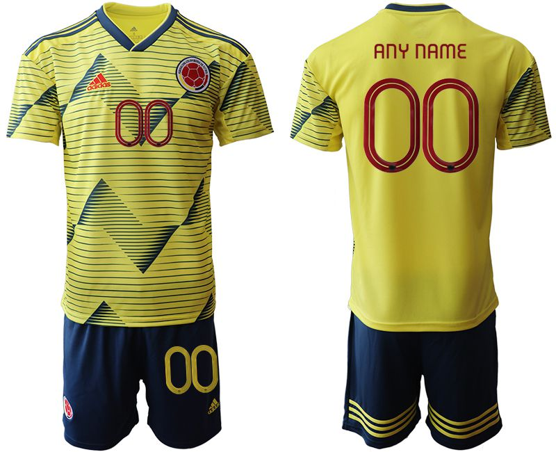 Men 2019-2020 Season National Team Colombia home customized yellow Soccer Jerseys