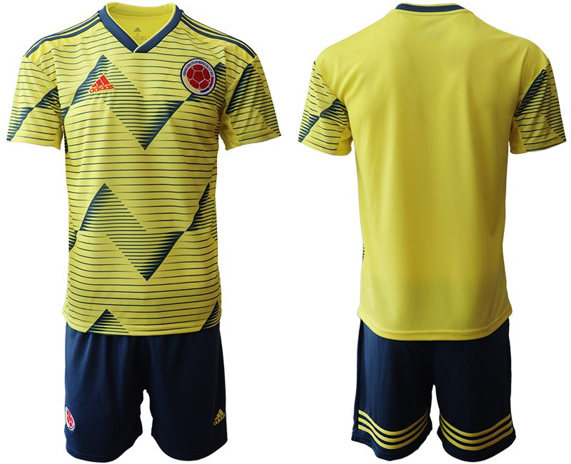Men 2019-2020 Season National Team Colombia home yellow Soccer Jerseys