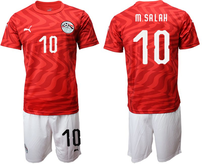 Men 2019-2020 Season National Team Egypt home 10 red Soccer Jerseys