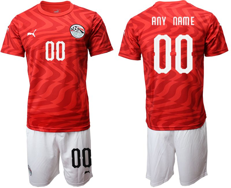Men 2019-2020 Season National Team Egypt home customized red Soccer Jerseys