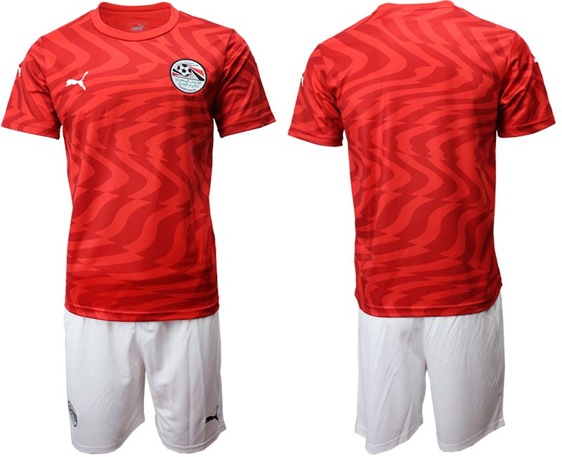 Men 2019-2020 Season National Team Egypt home red Soccer Jerseys