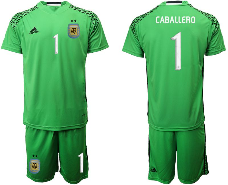 Men 2019-2020 Season National Team argentina green goalkeeper 1 Soccer Jerseys1