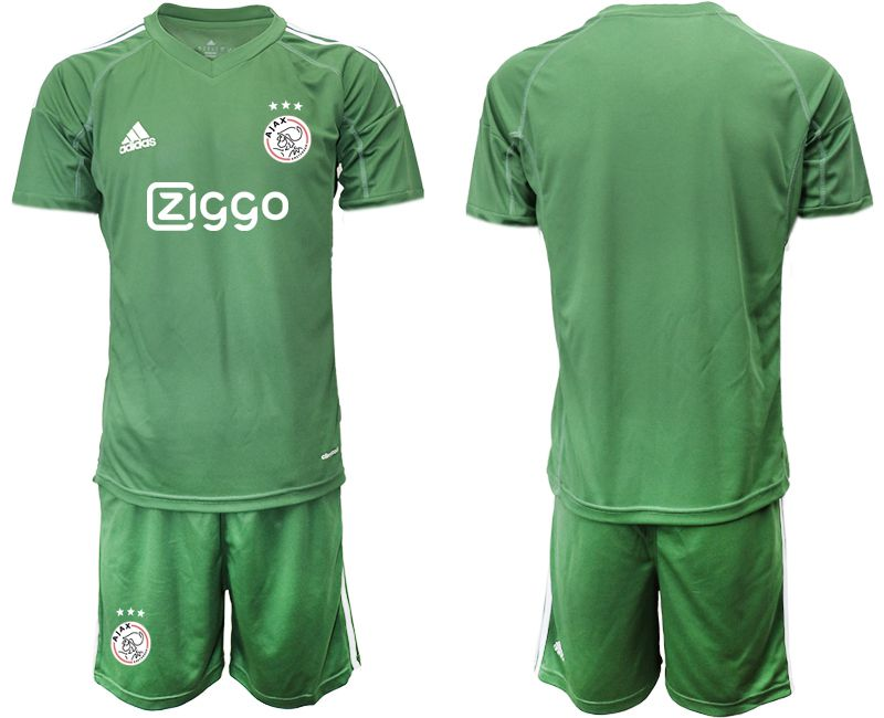 Men 2019-2020 club Ajax army green goalkeeper Soccer Jerseys