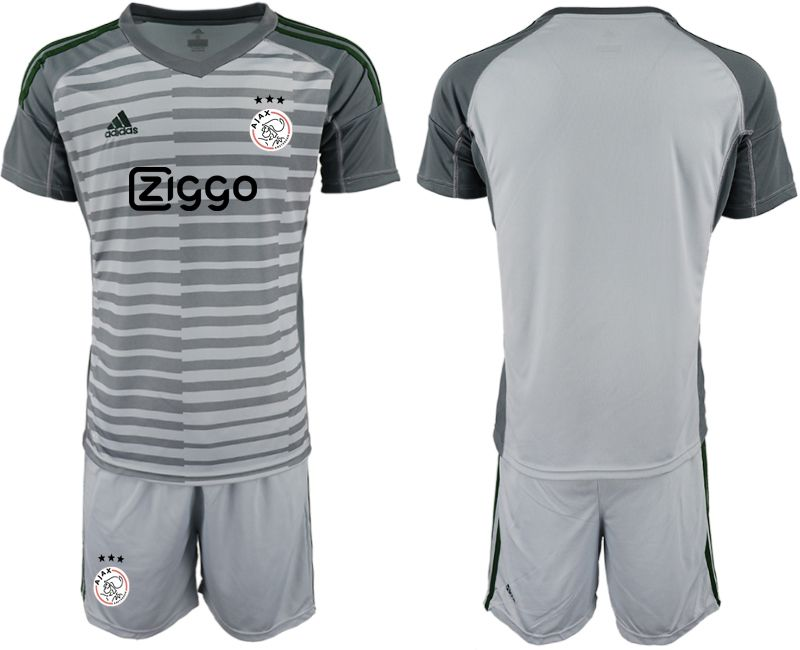 Men 2019-2020 club Ajax gray goalkeeper Soccer Jerseys