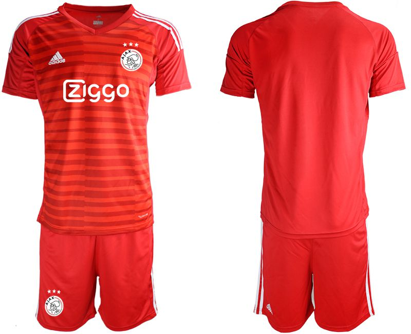 Men 2019-2020 club Ajax red goalkeeper Soccer Jerseys