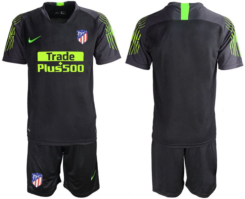 Men 2019-2020 club Atletico Madrid black goalkeeper Soccer Jerseys