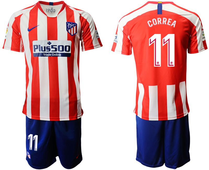 Men 2019-2020 club Atletico Madrid home 11 red Soccer Jerseys