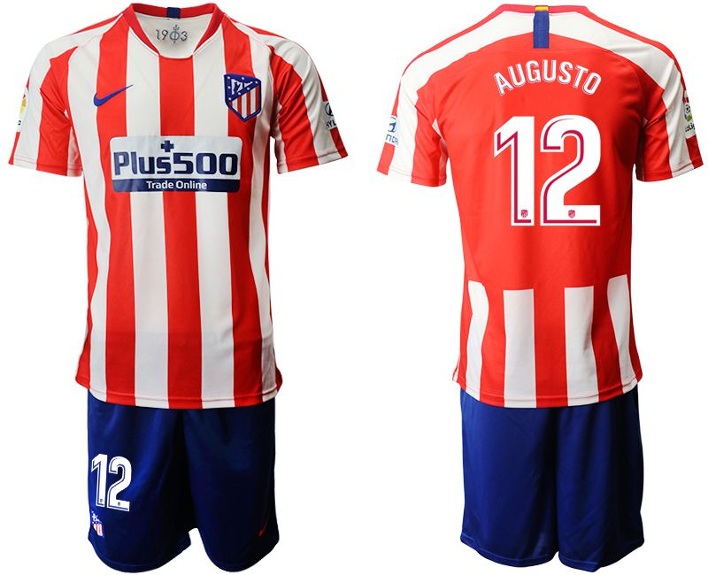 Men 2019-2020 club Atletico Madrid home 12 red Soccer Jerseys
