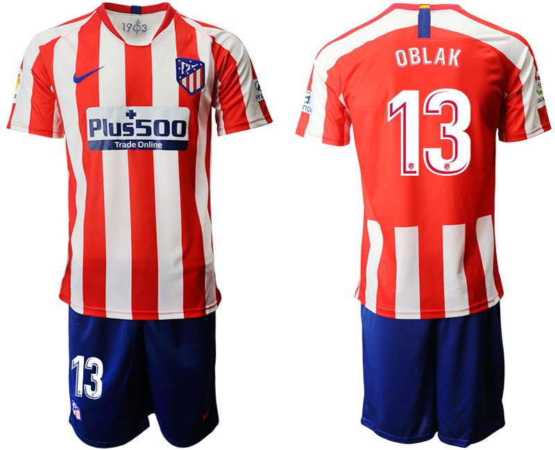 Men 2019-2020 club Atletico Madrid home 13 red Soccer Jerseys