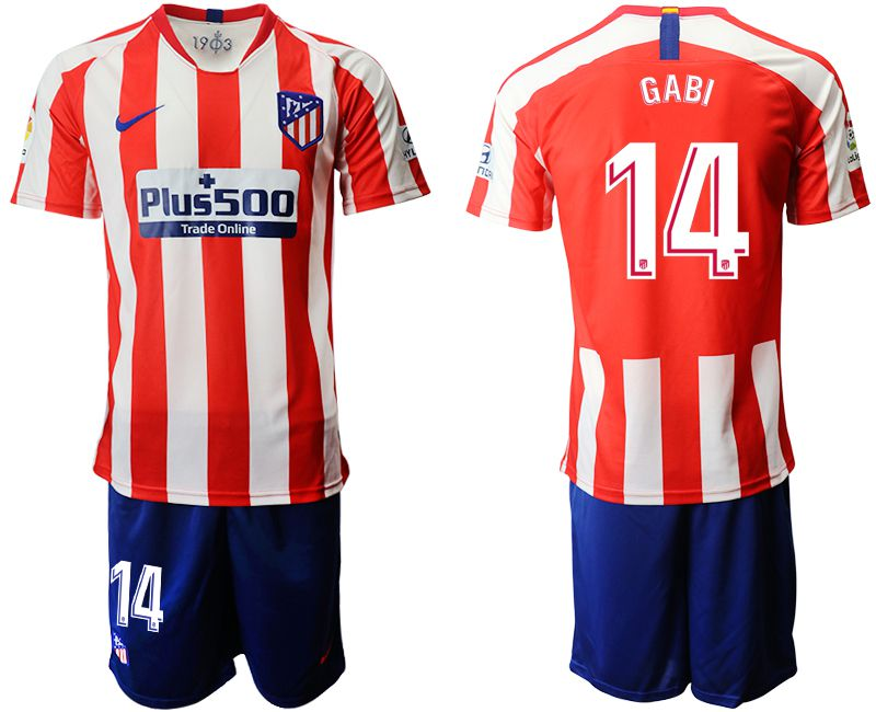 Men 2019-2020 club Atletico Madrid home 14 red Soccer Jerseys