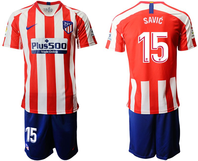 Men 2019-2020 club Atletico Madrid home 15 red Soccer Jerseys