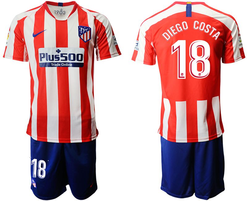 Men 2019-2020 club Atletico Madrid home 18 red Soccer Jerseys