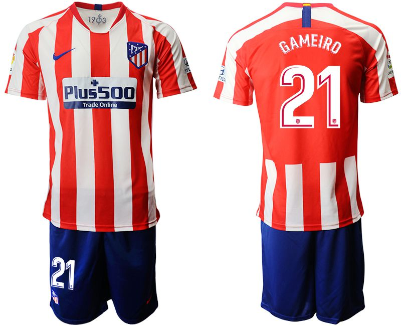 Men 2019-2020 club Atletico Madrid home 21 red Soccer Jerseys