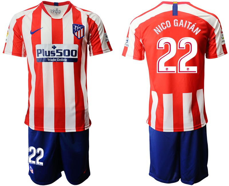 Men 2019-2020 club Atletico Madrid home 22 red Soccer Jerseys