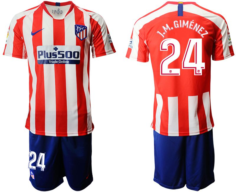 Men 2019-2020 club Atletico Madrid home 24 red Soccer Jerseys