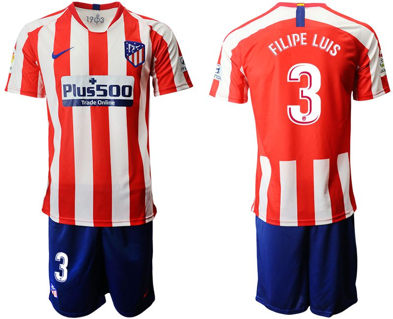 Men 2019-2020 club Atletico Madrid home 3 red Soccer Jerseys
