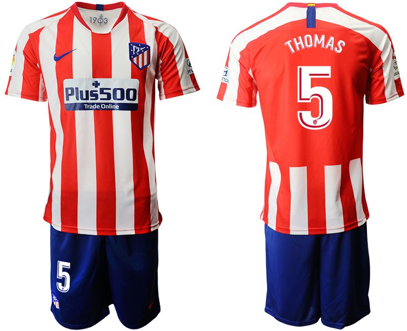 Men 2019-2020 club Atletico Madrid home 5 red Soccer Jerseys