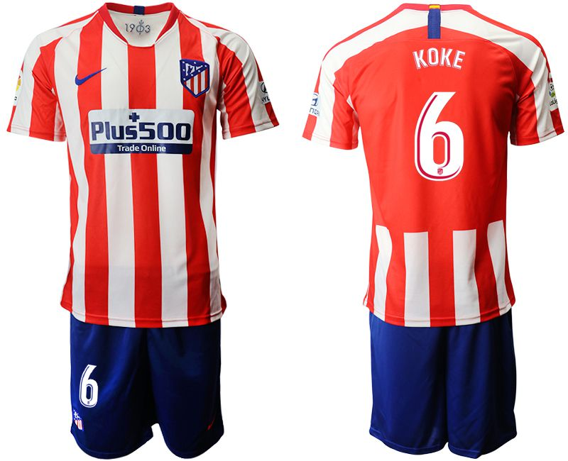 Men 2019-2020 club Atletico Madrid home 6 red Soccer Jerseys