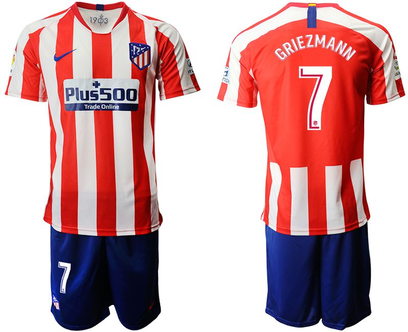 Men 2019-2020 club Atletico Madrid home 7 red Soccer Jerseys
