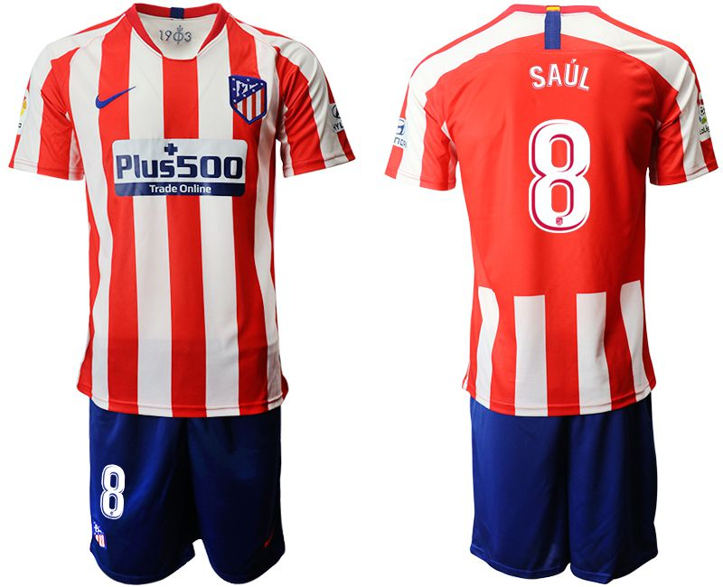 Men 2019-2020 club Atletico Madrid home 8 red Soccer Jerseys