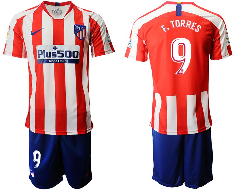Men 2019-2020 club Atletico Madrid home 9 red Soccer Jerseys