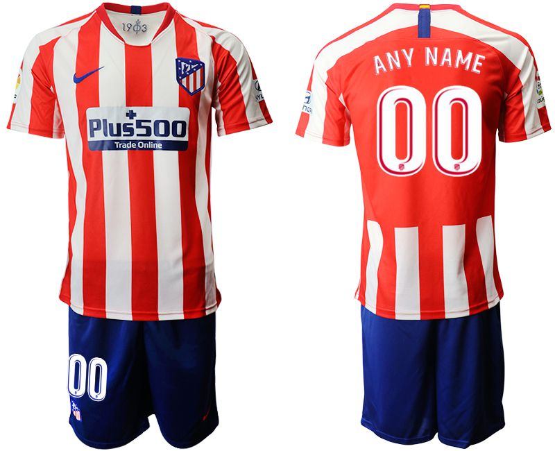 Men 2019-2020 club Atletico Madrid home customized red Soccer Jerseys