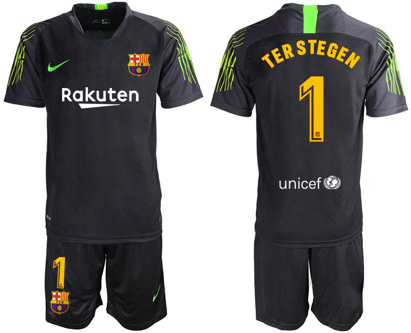 Men 2019-2020 club Barcelona black goalkeeper 1 Soccer Jerseys