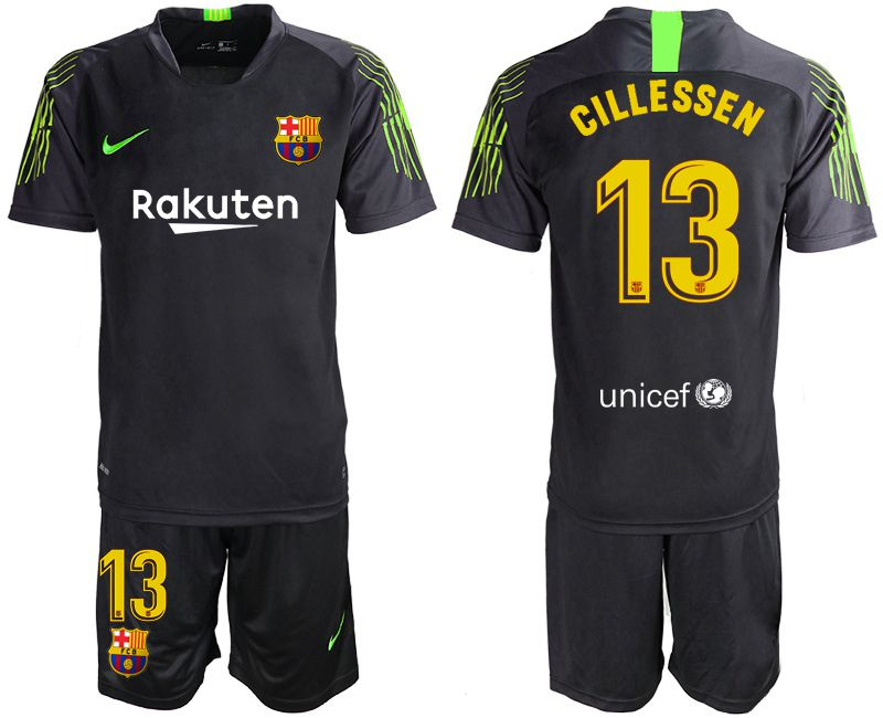 Men 2019-2020 club Barcelona black goalkeeper 13 Soccer Jerseys