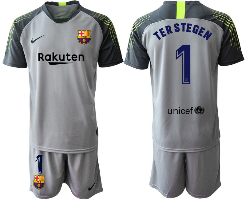 Men 2019-2020 club Barcelona gray goalkeeper 1 Soccer Jerseys