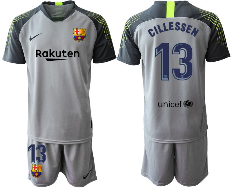 Men 2019-2020 club Barcelona gray goalkeeper 13 Soccer Jerseys