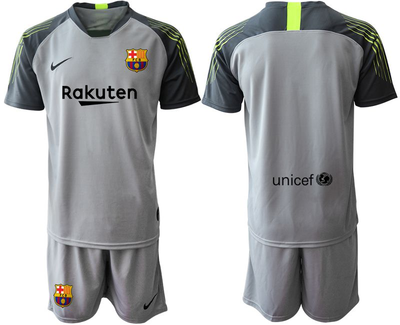 Men 2019-2020 club Barcelona gray goalkeeper Soccer Jerseys