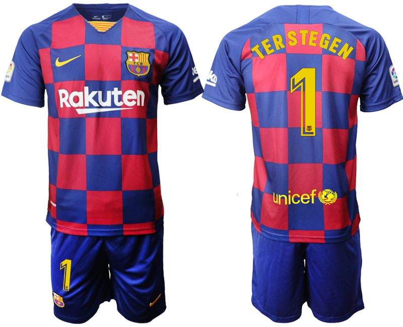 Men 2019-2020 club Barcelona home 1 blue Soccer Jerseys