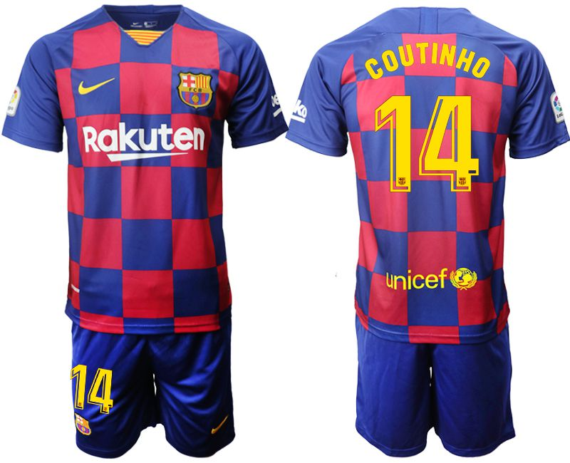 Men 2019-2020 club Barcelona home 14 blue Soccer Jerseys