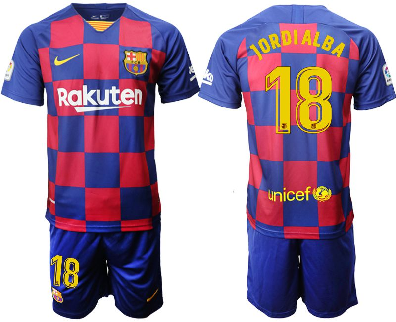 Men 2019-2020 club Barcelona home 18 blue Soccer Jerseys