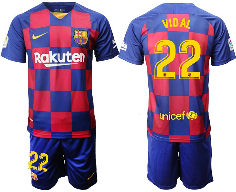 Men 2019-2020 club Barcelona home 22 blue Soccer Jerseys