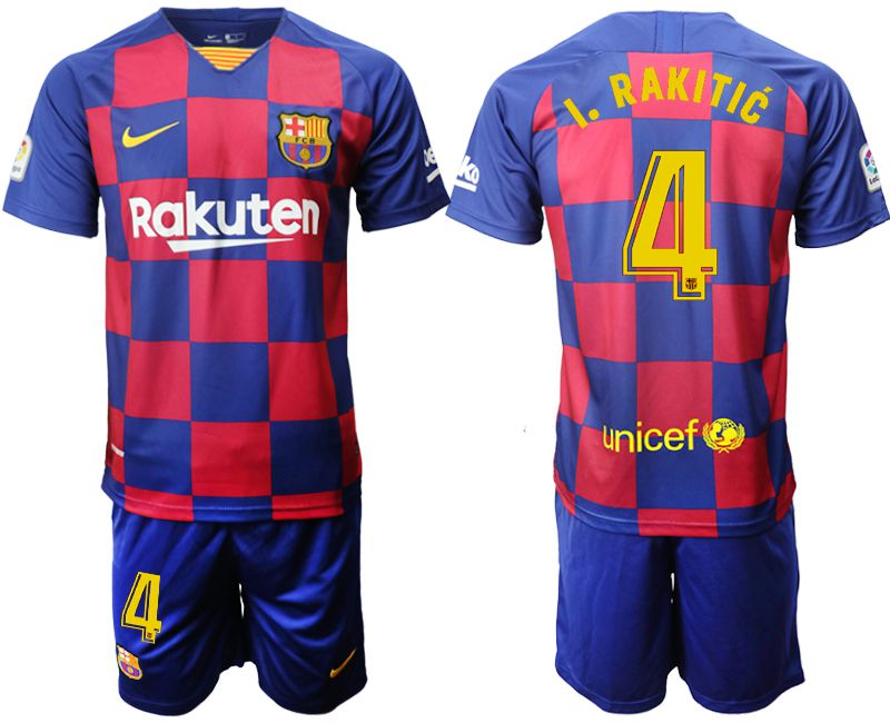 Men 2019-2020 club Barcelona home 4 blue Soccer Jerseys
