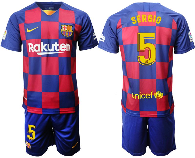 Men 2019-2020 club Barcelona home 5 blue Soccer Jerseys