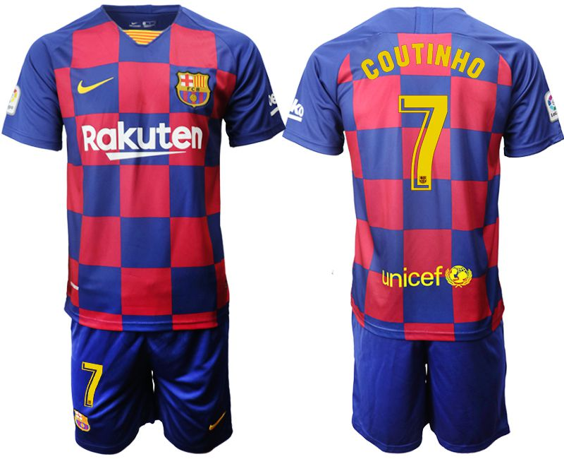 Men 2019-2020 club Barcelona home 7 blue Soccer Jerseys