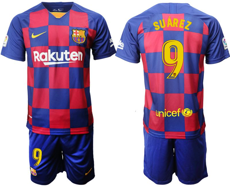 Men 2019-2020 club Barcelona home 9 blue Soccer Jerseys