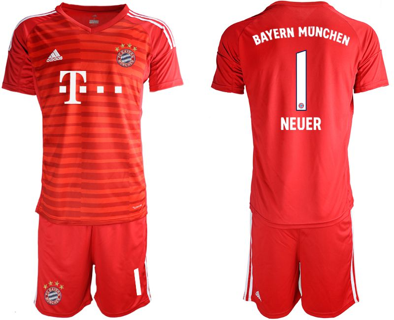 Men 2019-2020 club Bayern Munich FC red goalkeepe 1 Soccer Jerseys