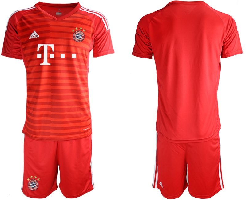 Men 2019-2020 club Bayern Munich FC red goalkeepe Soccer Jerseys