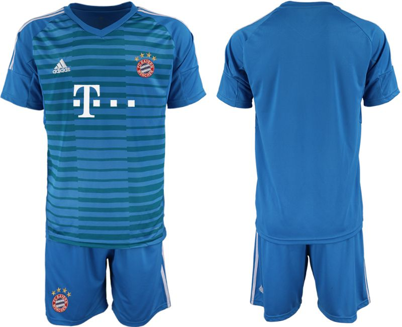 Men 2019-2020 club Bayern Munich blue goalkeeper Soccer Jerseys