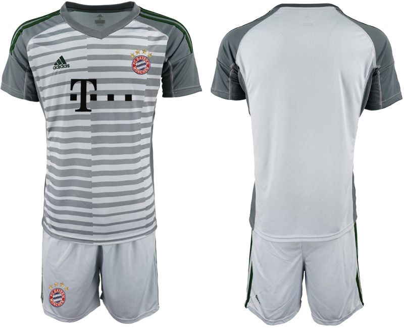 Men 2019-2020 club Bayern Munich gray goalkeeper Soccer Jerseys