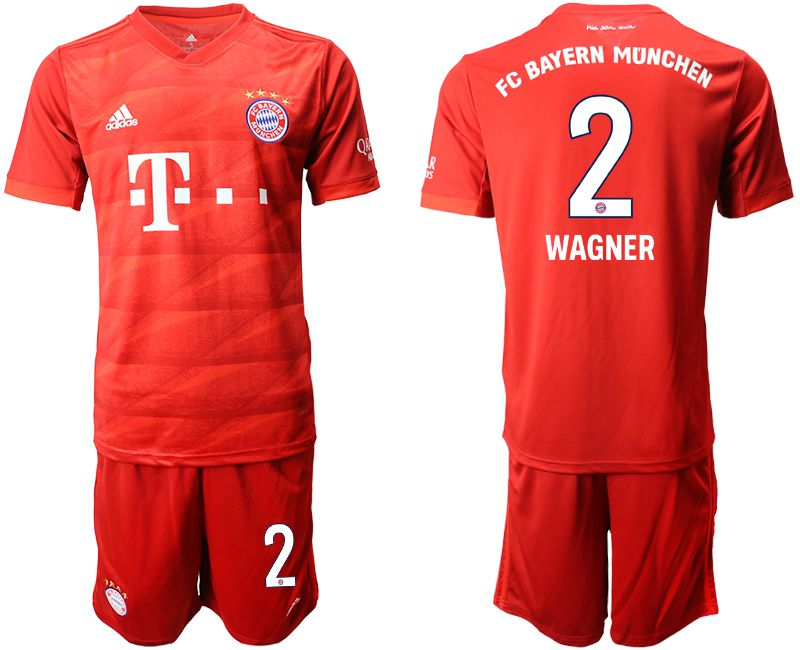 Men 2019-2020 club Bayern Munich home 2 red Soccer Jerseys