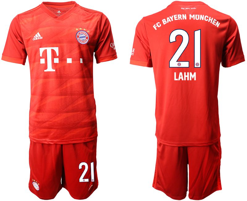 Men 2019-2020 club Bayern Munich home 21 red Soccer Jerseys